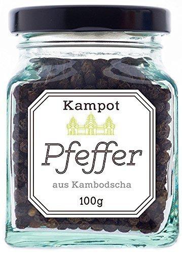 Amazon Blitz-PrimeDeal: Schwarzer + weißer Kampot Pfeffer, 100 Gramm *12,58€
