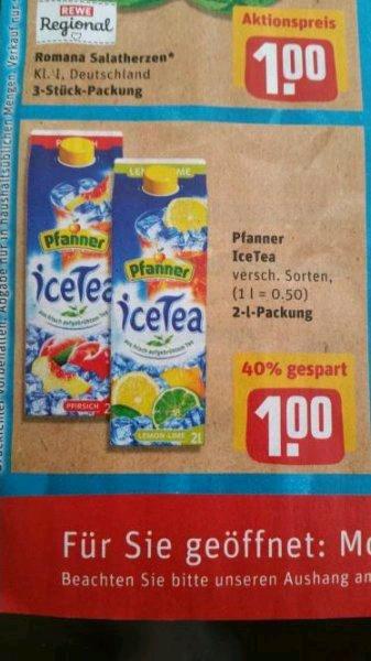 [Rewe] Pfanner Ice Tea 2l Packung 1.00 Euro