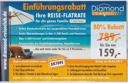 REISE-FLATRATE für 4 Personen statt 789,- für 149,- € für 1 Jahr im Reiseclub