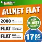 klarmobil Allnet Flat L in D-Netz Qualität SIM-Karte (Micro-SIM und Nano-SIM, Aktivierungscoupon, Telefonie- und SMS-Flat in alle deutschen Netze, 2GB Highspeed Internet, 24 Monate Laufzeit) Anschlussgebühr günstiger