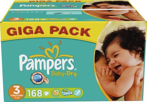 Pampers 2x Gigapacks Baby Dry für 49,96€ (windeln.de)