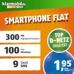 Klarmobil Smartphone flat, Mobilfunk Vertrag im Telekom-Netz für nur 1,95 € im Monat, 9,99 einmalig mit prime