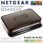 Netgear GS605AV Home Theater Network 5-Port Gigabit Switch