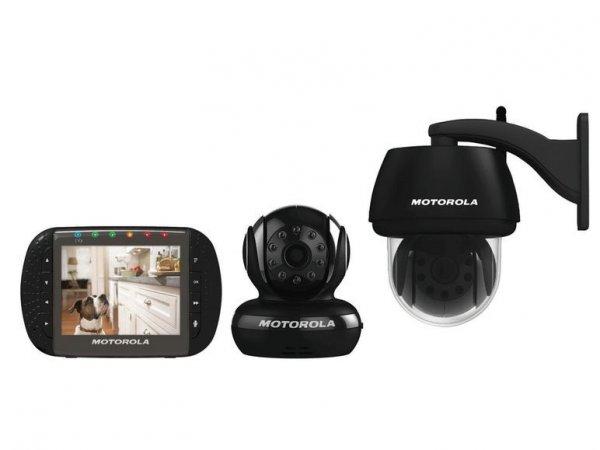 MOTOROLA 4-Kanal Funk-Überwachungs-Set Innen Außen Kamera + Monitor + Babyphone