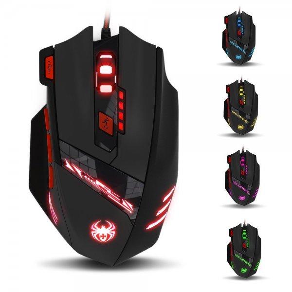 Zelotes Gaming Maus Profi 9200 DPI Optical 8 Tasten für 14,99 Euro / 3 Euro Gutscheincode Amazon