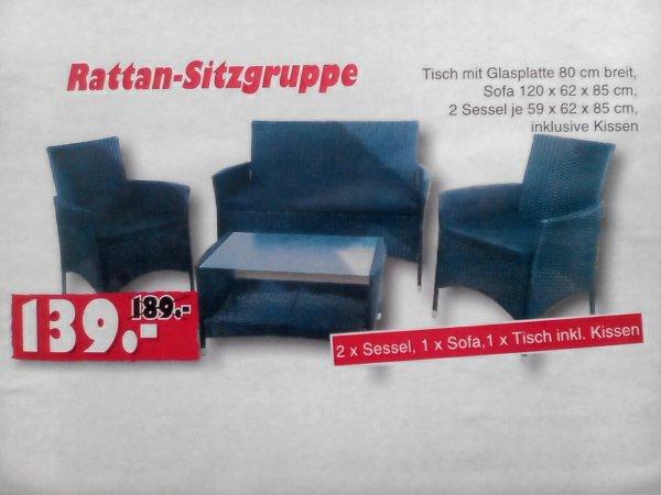 Sitzgruppe Lounge Set Brasil schwarz für 139,- Euro bei Jawoll