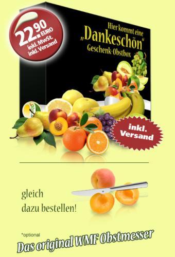 Obst bestellen im Netz zum halben Preis? Obst.de auf Schwabendeal.de