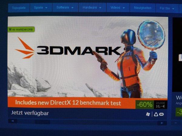 [Steam] 3DMark Direct X12 zurzeit bei Steam 60% reduziert