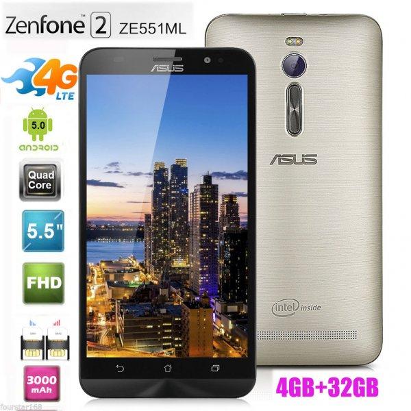 [ebay] Asus ZE551ML-6G395WW Zenfone 2 Smartphone (14 cm (5,5 Zoll), IPS, 32GB, 1920x1080 Pixel, 13,5 Megapixel, Android 6) gold (Ohne LTE Band 7/20)