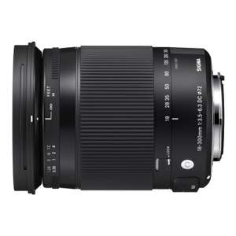 Sigma 18-300mm f3.5-6.3 DC Macro OS HSM Objektiv [Nikon] für 399€ @mediamarkt.de