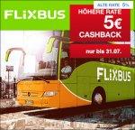 Flixbus: 5€ Cashback auf jede Buchung über Qipu statt 5%..ab 17,99€ MBW