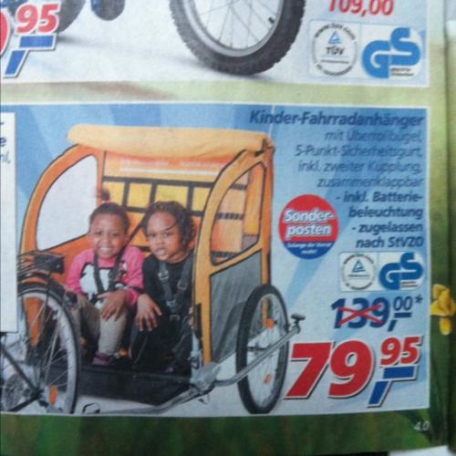 Kinder fahrradanhänger bei Real für 79,95