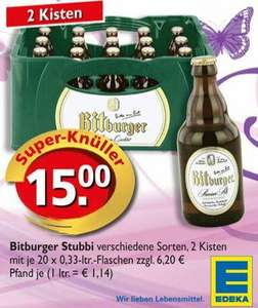 [Offline][Lokal Trier?] Bitburger Stubbi bei Edeka und Real
