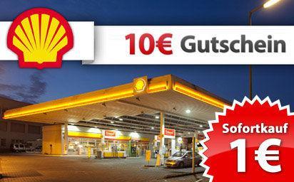 10€ Shell Tankgutschein für 1€ bei Topdeals