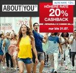 [aboutyou] zum Sale (bis zu 70%) 20% cashback zusätzlich über Qipu