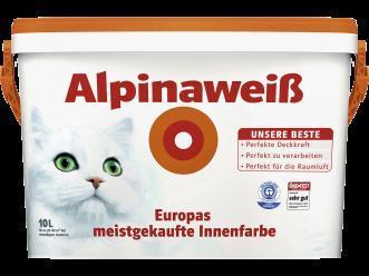 Alpinaweiß(mit Katze) 10 l  für 29.99 € bei Hellweg