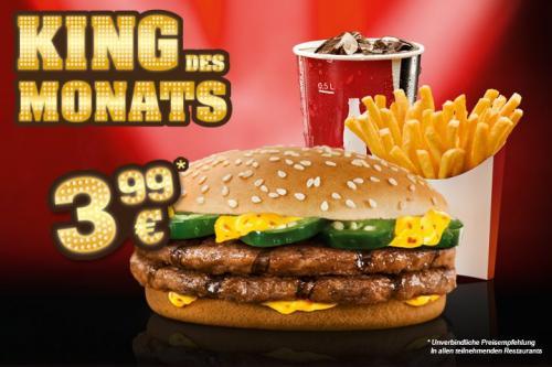 [Burger King] Endlich wieder als King des Monats: Chili Cheese Burger mit Pommes und Cola