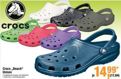 """Original Crocs """"Beach"""" @Metro für 17,84€ (nur für Gewerbetreibende)"""