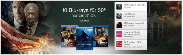 [Amazon] 10 Blu-rays für 50€
