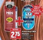 [HIT] UPDATE: Schwarzkopf Men Shampoo 250ml + Wilkinson Hydro 5 für 2,75€