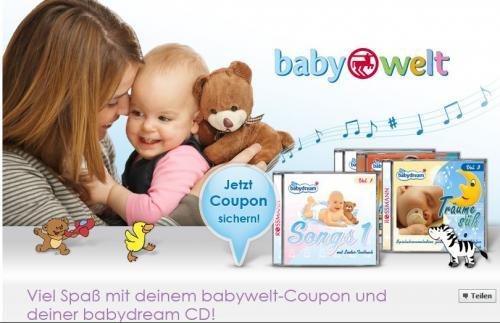Kostenlose babydream CD von Rossmann über Facebook