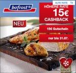 Qipu: Bofrost - 15 Euro Cashback (30€ MBW) + 15€ Gutschein (45€ MBW) für Neukunden