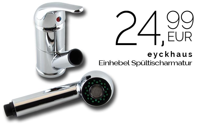 eyckhaus Spültischarmatur Einhebel für 24,99€via Buyfox
