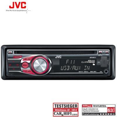 JVC Autoradio KD-R411 mit Front USB und Front AUX