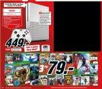 Microsoft Xbox One S Slim Konsole 2 TB weiss inc. 3 Spiele für 449,-€ oder nur 3 Spiele für 79,-€ [Mediamarkt ab Sofort]