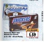 Snickers, Mars , Bounty Ice Cream für 1,59€ bei [Kaufland Bundesweit]