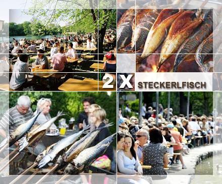 [Lokal] München: 2x Steckerlfisch am Seehaus im Englischen Garten (4,50 EUR mit Ostergutschein)
