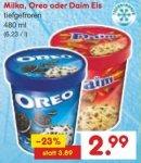 Milka, Oreo oder Daim Eis (480ml) für