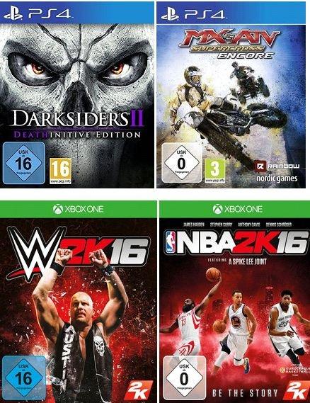 [Lokal Saturnmärkte Berlin/Potsdam] WWE2k16 (XBoxOne]***NBA2k16 (XBoxOne)***Darksiders 2 Deathinitive Edition (PS4)***MX vs. ATV Supercross - Encore (PS4) für je 9,99€