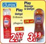 [ZIMMERMANN] Durex Play Gleitgel Erdbeere 50ml für 2,77€ // Durex Play Massage & Gleitgel 200ml für 3,99€