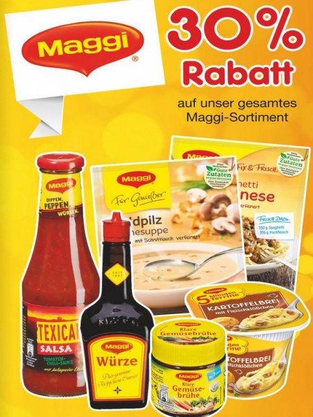 Netto MD diese Woche alle Maggi-Produkte 30%Rabatt + Kombination mit Maggi-Coupon 1,50 Euro Rabatt für 6 Produkte
