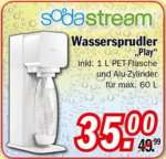 """[ZIMMERMANN] Sodastream """"Play"""" Wassersprudler inkl. 1l Flasche und CO²-Kartusche für 35€"""
