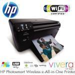 HP Photosmart CN245B All-in-One Farbdrucker zum Drucken, Scannen und Kopieren mit WLAN