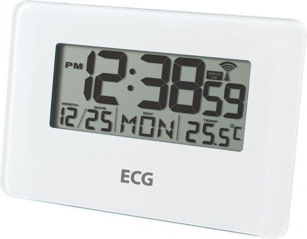 ECG DH 010 Glasdesign Radiowecker mit Beleuchtung und Radiogesteuerte Uhr, weiß 10,05€ statt 29€
