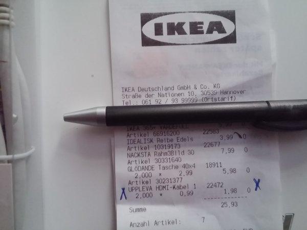 UPPLEVA HDMI-Kabel, 1.8m. IKEA Hannover für 99Cent
