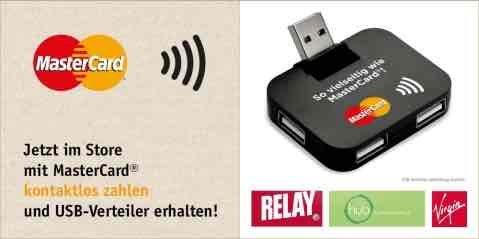 Gratis USB-Hub beim Zahlen mit Mastercard