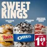 Burger King Sweet Kings Fusion Oreo, Twix und Strawberry Crunch wieder für € 1,49