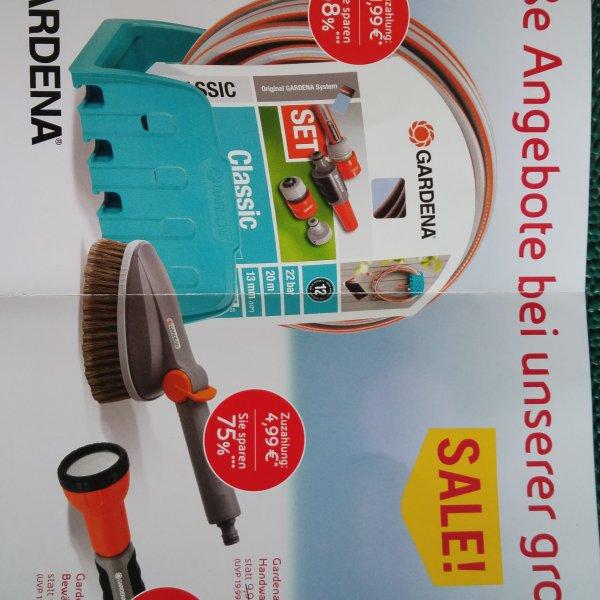 [AGIP-Tanke]Gardena Classic Schlauch, 13 mm, 1/2 Zoll, 20 m, mit Systemteilen, oder Bürste 11,99 bzw 4,99