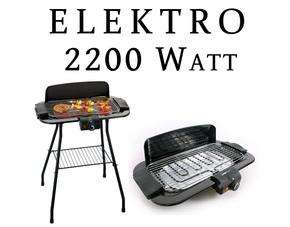 Elektro Tisch- & Standgrill 2200 W  -  22,99€ inkl. Versand bei meinpaket.de