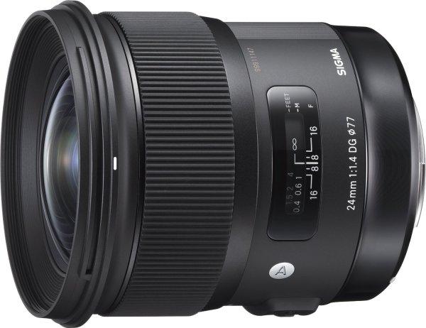 Sigma 24 mm F1,4 DG HSM Objektiv (77 mm Filtergewinde) für Sigma Objektivbajonett für 494,75€ / Idealo ab 729€