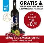 ebrosia.de – 2 Geschenke -> gratis Primitivo Wein (11,99€) + gratis Lieferung / MBW: 5€ (für die ersten 1000 Bestellungen)
