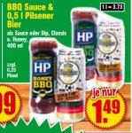 [Krümet - Norddeutschland] hp bbq Sauce + 0,5l Warsteiner Pils