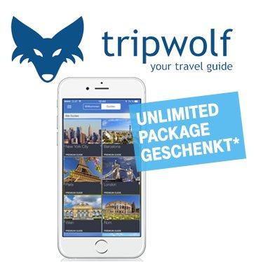 Tripwolf mit Unlimited Package (Reiseplaner und -guide mit Offline-Funktion) i.W.v. 19,99€ gratis für Telekom-Mobilfunkkunden