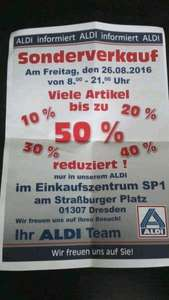 26.08.2016 ALDI Sonderverkauf Dresden