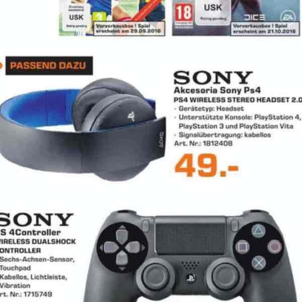 [Saturn Bochum / Hattingen] Sony PS4 Wireless Stereo Headset für 49€!