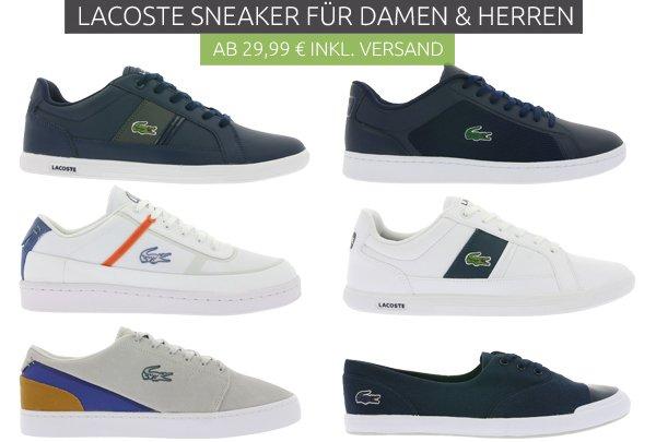 Lacoste Sneaker - Damen & Herren ab ab 29,99€ [Outlet46]